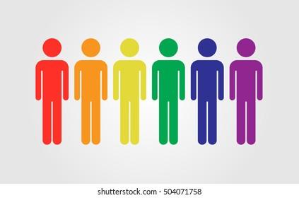 LGBT people vector icon, rainbow flag