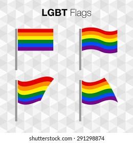 lgbt pride flags sign rainbows