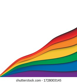 LGBT Pride Month in June. Lesbian Gay Bisexual Transgender. LGBT flag. Rainbow love concept. Poster, card, banner and background. Vector illustration