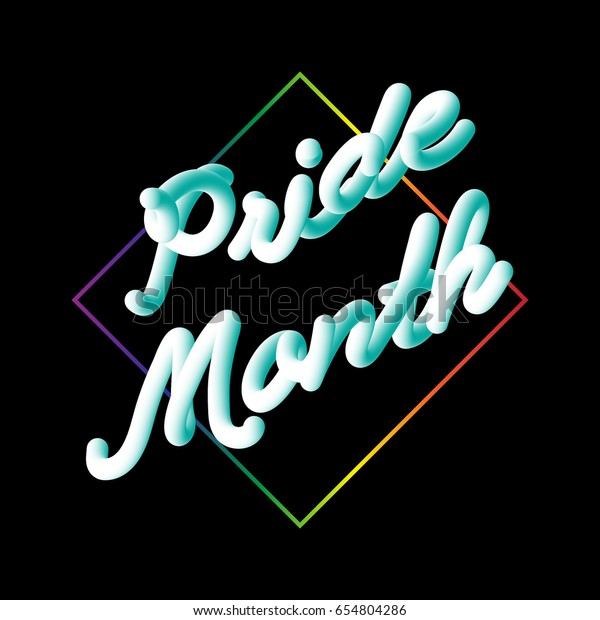 Lgbt Pride Month Typographic Sign On Stock Vector (Royalty Free