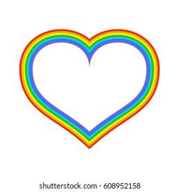 LGBT Rainbow Heart. Symbol of love fo sexual community