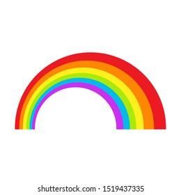 LGBT rainbow symbol icon. Gay pride, vector illustration