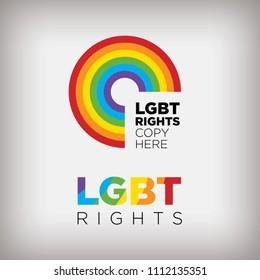 LGBT rights logo design