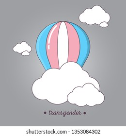 LGBT sign for transgender people. Balloon aeronautics icon in flat design