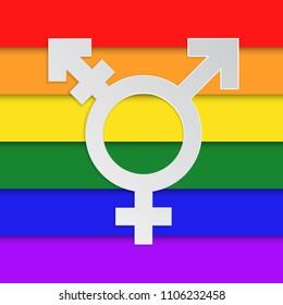 LGBT symbol flat vector icon.