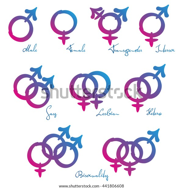 Lgbt Symbols Gender Identity Sexual Orientation Stock -1874