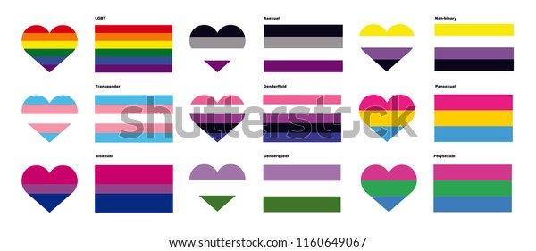 Lgbtq Pride Flags Stock Vector (Royalty Free) 1160649067