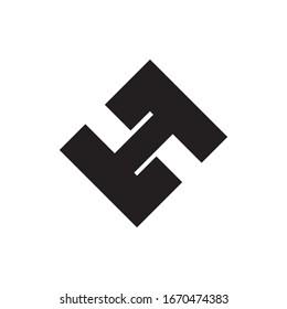 LH letter logo design vector