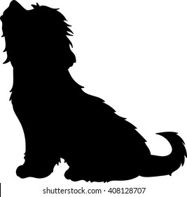 Lhasa Apso vector silhouette