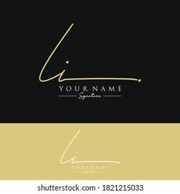 LI Initial letter handwriting and signature logo.