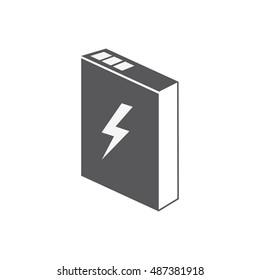 li ion icon, lithium battery, vector illustration.