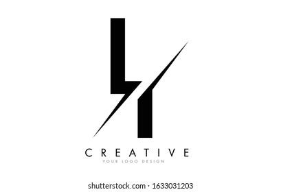 LI L I Letter Logo Design with a Creative Cut. Creative logo design..