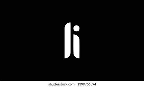 LI logo design template vector illustration minimal design