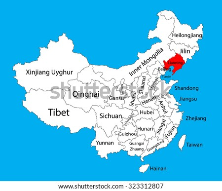 Liaoning Province Map China Vector Map Stock Vector Royalty Free