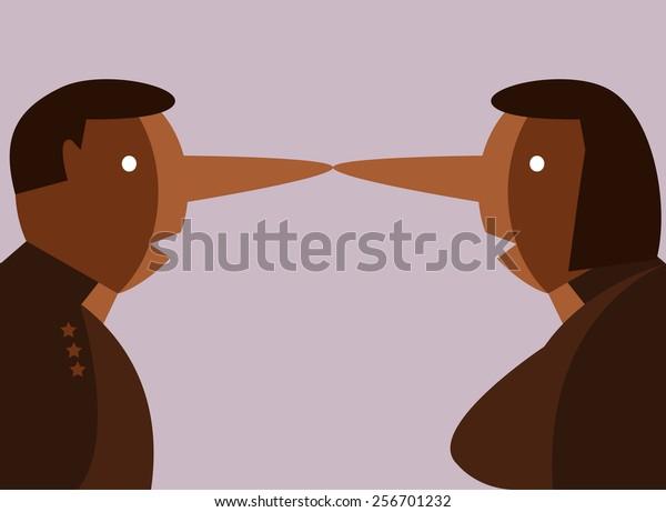 liar people. flat design character. vector illustration