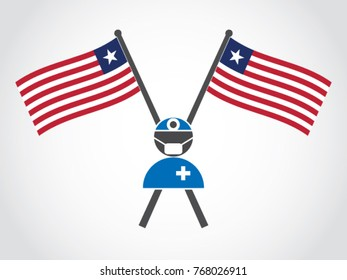 Liberia Emblem Doctor Surgery