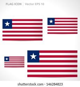 Liberia flag template | vector symbol design | color red white and blue  | icon set