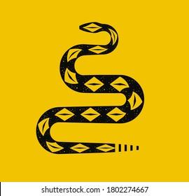 libertarian rattlesnake viper serpent yellow animal