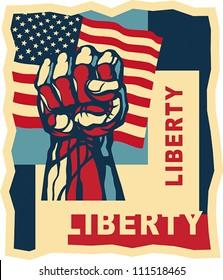Liberty, art concept. EPS 8, CMYK