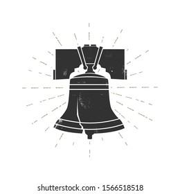 Liberty Bell isolated on white. Philadelphia.Vector illustration.