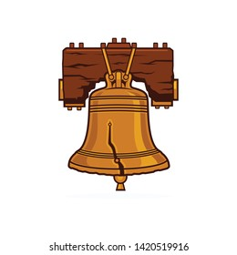 Liberty bell logo template vector illustration
