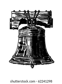 Liberty Bell - Retro Clipart Illustration