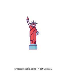 Liberty Statue Icon Illustration