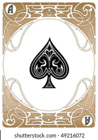 LIberty style poker playing cards, vector EPS AI8.