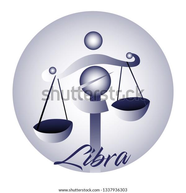 Libra Astrological Zodiac Sign Vector Illustration Stock