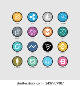 Libra coin new cryptocurrency logo design. Blockchain technology logo icon template. Crypto and bitcoin logotype illustration and vector