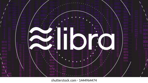 Libra cryptocurrency.New cryptocurrency. Calibra is a new digital wallet for a new digital currency Libra. Cryptocurrency coin sign isolated. Vector template design, eps 10.