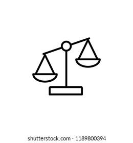 libra equality line outline icon on white background