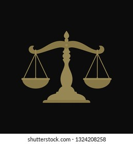 Libra Flat Vector Law Logo