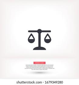 Libra vector icon , lorem ipsum Flat design