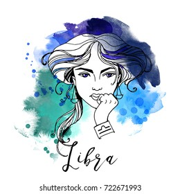 Libra. Zodiac signs girl