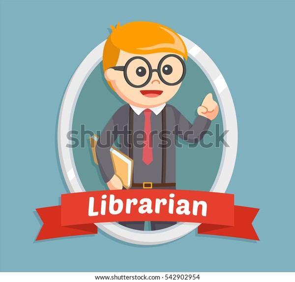 librarian male in emblem