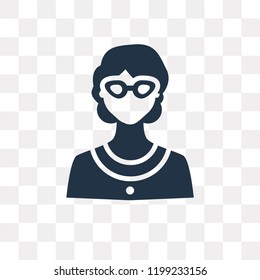 Librarian vector icon isolated on transparent background, Librarian transparency concept can be used web and mobile