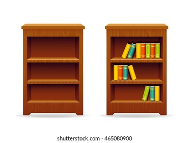 Library bookcase education and knowledge