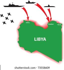 Libya war vector illustration