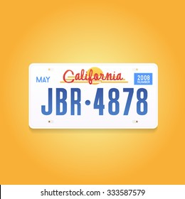 License plate Vector