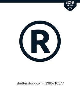 Licensed icon mark R for registered brand
