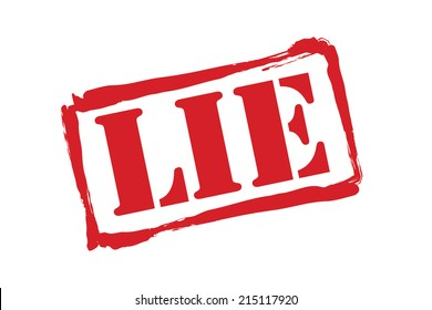 LIE red rubber stamp vector over a white background.