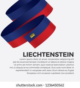 Liechtenstein flag for decorative.Vector background