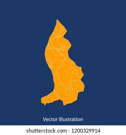 Liechtenstein map - High detailed color map of Liechtenstein. flat design style, clean and modern.Vector illustration eps 10