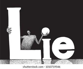 lies hiding lier