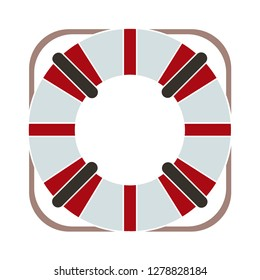 life buoy icon-lifeguard symbol-lifesaver sign-sea guard illustration