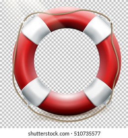 Life buoy isolated on transparent background. EPS 10 vector file included