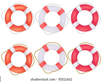 Life buoy preservers with rope