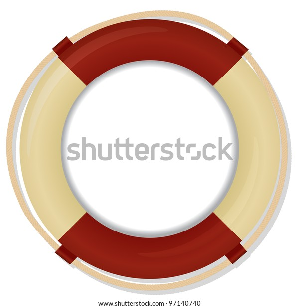 life buoy vector background on white
