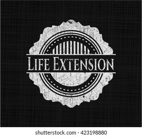Life Extension on chalkboard